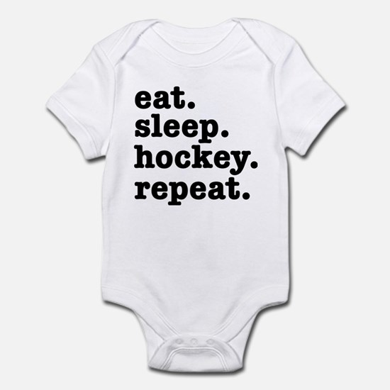 EAT. SLEEP. HOCKEY. REPEAT. Infant Bodysuit