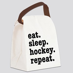 EAT. SLEEP. HOCKEY. REPEAT. Canvas Lunch Bag