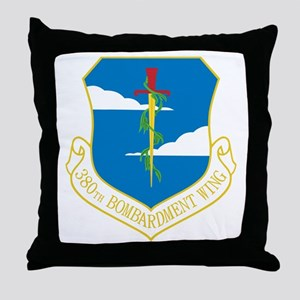 380th Bomb Wing Throw Pillow