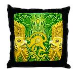 Green Totonac Throw Pillow