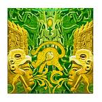 Green Totonac Tile Coaster