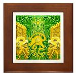 Green Totonac Framed Tile