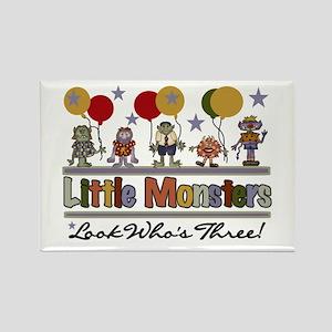 Little Monsters 3rd Birthday Rectangle Magnet
