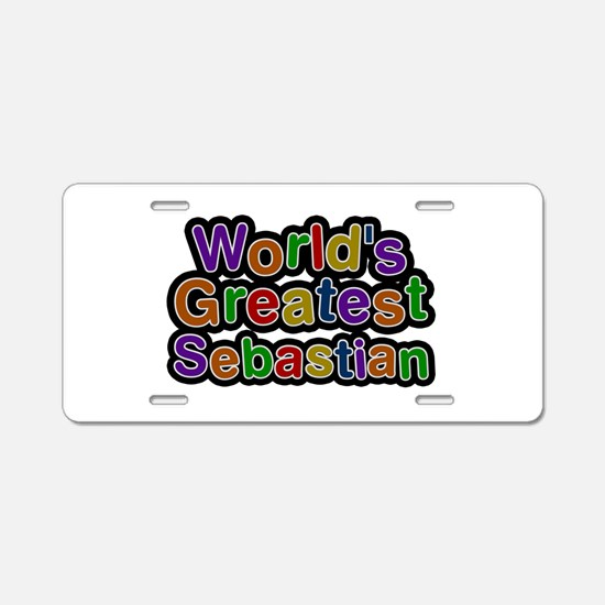World's Greatest Sebastian Aluminum License Plate