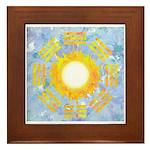 """""""Sun Bagua"""" Framed Tile"""