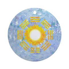 Sun Bagua To Replace Mirror (round) Round Ornament