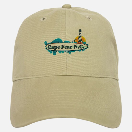 Cape Fear NC - Lighthouse Design Baseball Baseball Cap