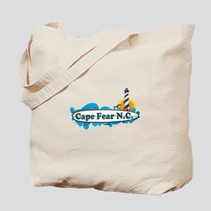 Cape Fear NC - Lighthouse Design Tote Bag