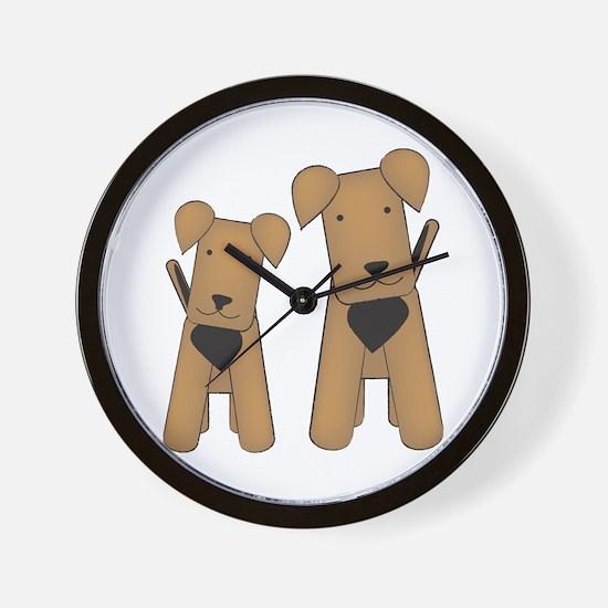 Cute Airedale Wall Clock