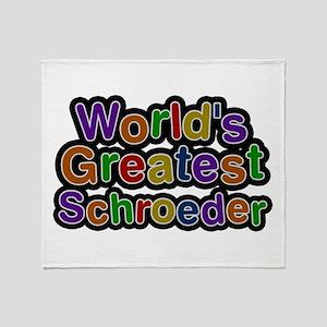 World's Greatest Schroeder Throw Blanket