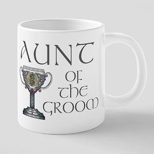 Celtic Aunt of the Groom 20 oz Ceramic Mega Mug