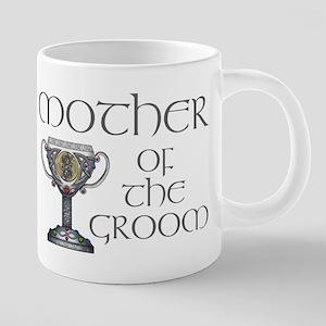 Celtic Mother Groom 20 oz Ceramic Mega Mug