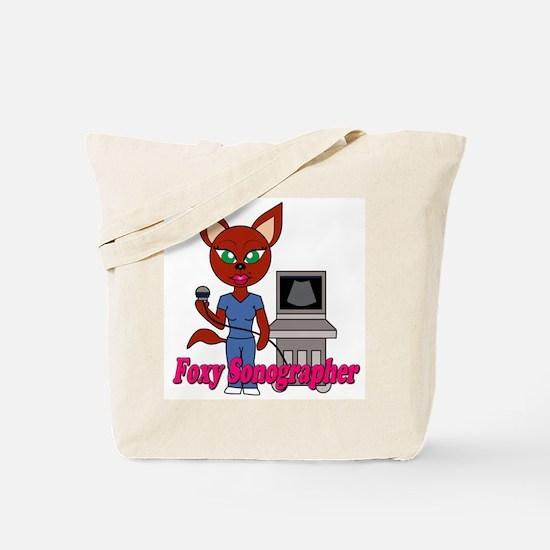 """Foxy Sonographer"" Tote Bag"