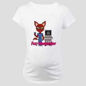 """Foxy Sonographer"" Maternity T-Shirt"