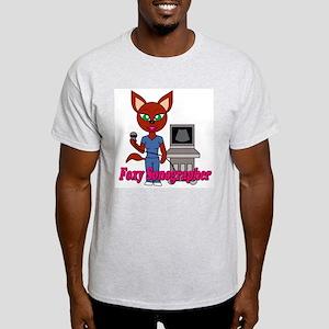 """Foxy Sonographer"" Light T-Shirt"