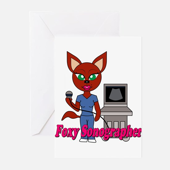 """Foxy Sonographer"" Greeting Cards (Pk of 10)"