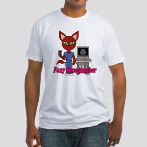 """""""Foxy Sonographer"""" Fitted T-Shirt"""