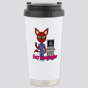 """Foxy Sonographer"" Stainless Steel Travel Mug"