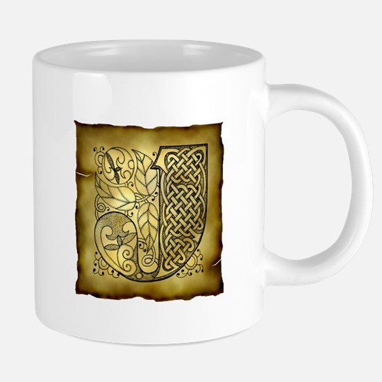 Celtic Letter J 20 oz Ceramic Mega Mug