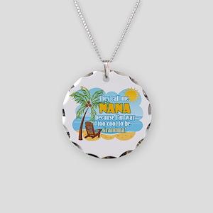 Cool Nana Necklace Circle Charm