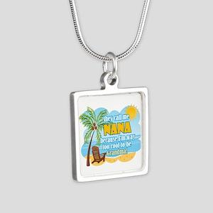 Cool Nana Silver Square Necklace