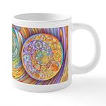 Celtic Crescents Rainbow 20 oz Ceramic Mega Mug