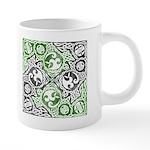 Celtic Knotwork Puzzle Square 20 oz Ceramic Mega M
