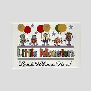 Little Monster 5th Birthday Rectangle Magnet