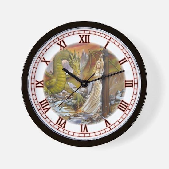 Dragon and Captive Wall Clock