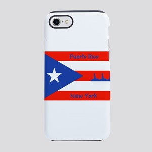Puerto Rico New York Flag Lady iPhone 7 Tough Case