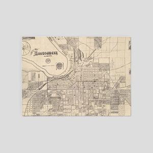 Vintage Map of Montgomery Alabama ( 5'x7'Area Rug