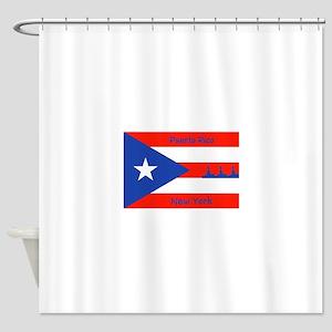Puerto Rico New York Flag Lady Libe Shower Curtain
