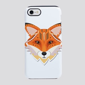 Cut Paper Cute Fox Face iPhone 7 Tough Case