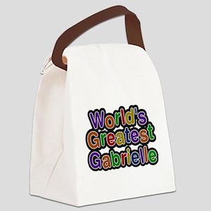 Worlds Greatest Gabrielle Canvas Lunch Bag
