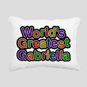 Worlds Greatest Gabriella Rectangular Canvas Pillo