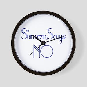 Simon Says NO Wall Clock