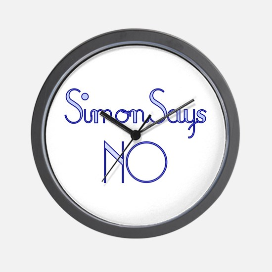 Simon Says NO Wall Clock