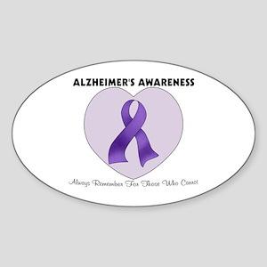 Alzheimer's Awareness Sticker (Oval)
