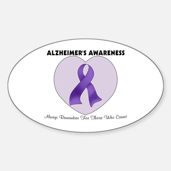 Alzheimer's Awareness Sticker (Oval)