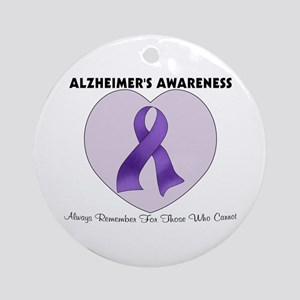 Alzheimer's Awareness Ornament (Round)