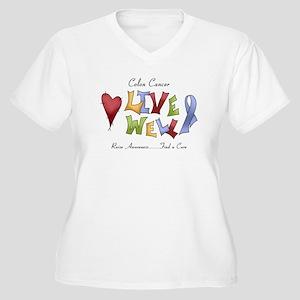 Colon Cancer (lw) Women's Plus Size V-Neck T-Shirt