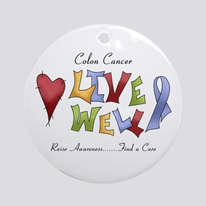 Colon Cancer (lw) Ornament (Round)