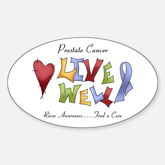 Prostate Cancer (lw) Sticker (Oval)