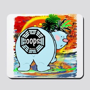 Lost Polar Bear Oops Mousepad