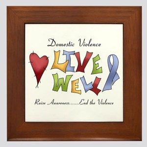Domestic Violence (lw) Framed Tile