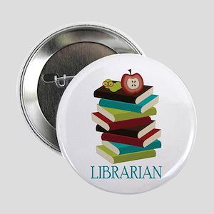 """Book Stack Librarian 2.25"""" Button"""