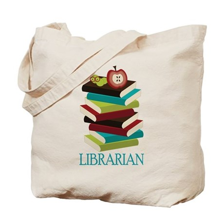 Book Stack Librarian Tote Bag
