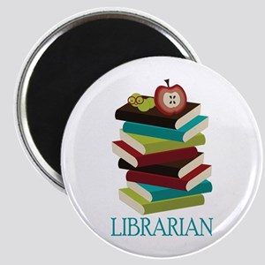 Book Stack Librarian Magnet