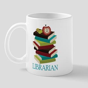 Book Stack Librarian Mug