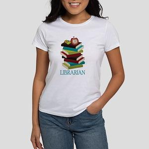 Book Stack Librarian Women's T-Shirt
